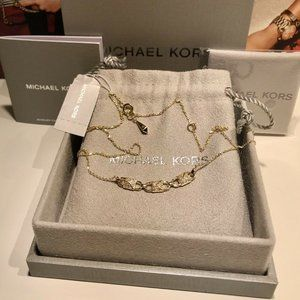 🎁 NWT $175 MICHAEL KORS 14K Mercer Link Necklace